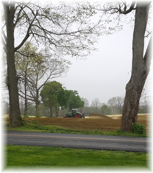 Field prep on Kraybill Church Road 4/27/16