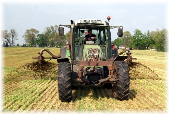Custom manure application