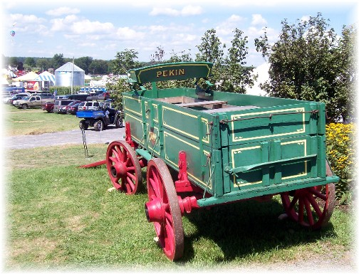 Restored green wagon at the Penn State AG progress days