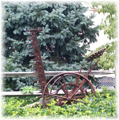 Old rusty mower