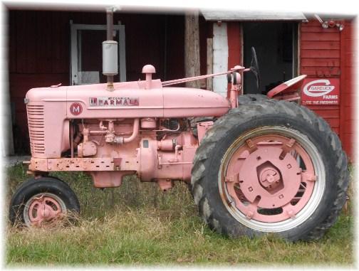 Pink Farmall tractor
