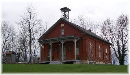 Photo of rural one room school house coverted to home