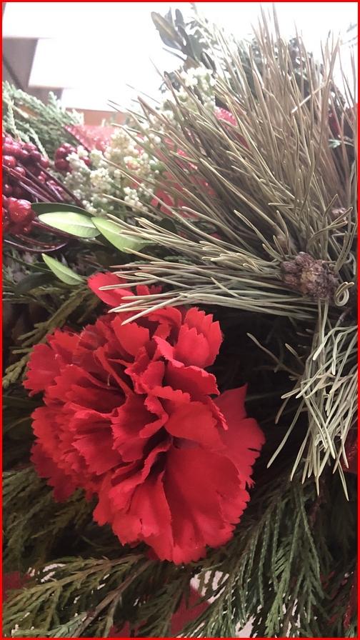 Anna Ruth's Christmas flower arrangement