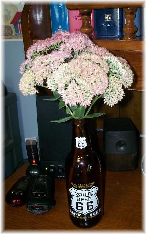 Autumn Joy Sedum arrangement 9/3/09
