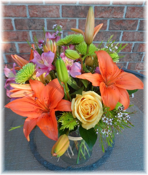 Brooksyne's birthday arrangement from Marilyn 10-21-12