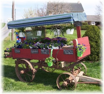Country Flower Cart