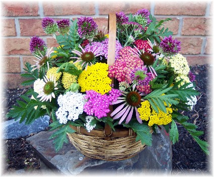 Flower basket prepared by Brooksyne