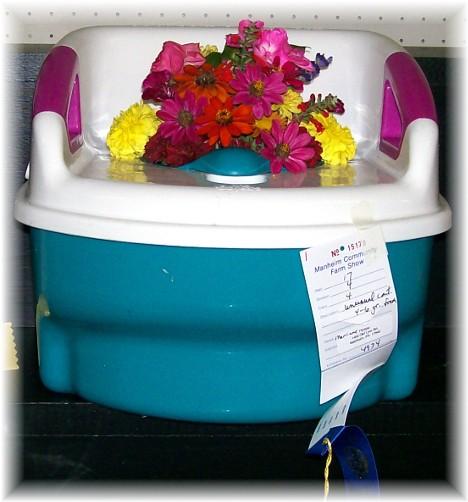 Flower potty at Manheim farmshow