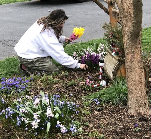 Picking flowers for mom 3/30/20