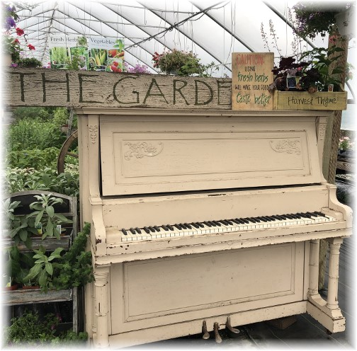 Greenhouse piano, Lancaster County, PA 6/1/18