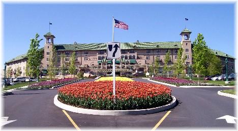 Hotel Hershey entrance, Hershey, PA