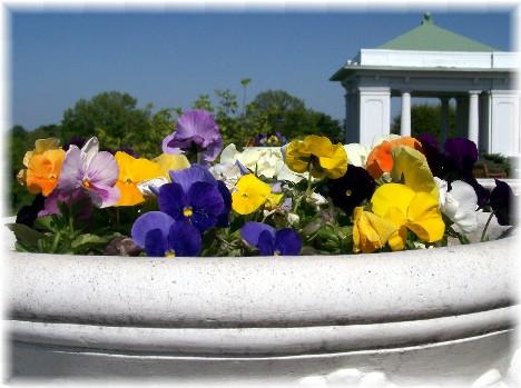 Hotel Hershey flower planter, Hershey, PA