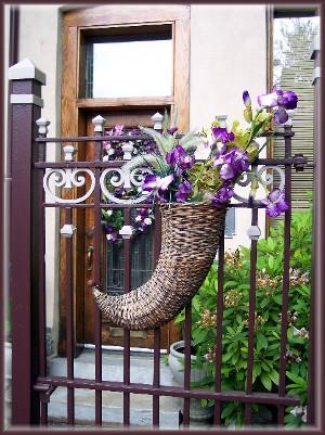 Horn of Plenty flower arrangement