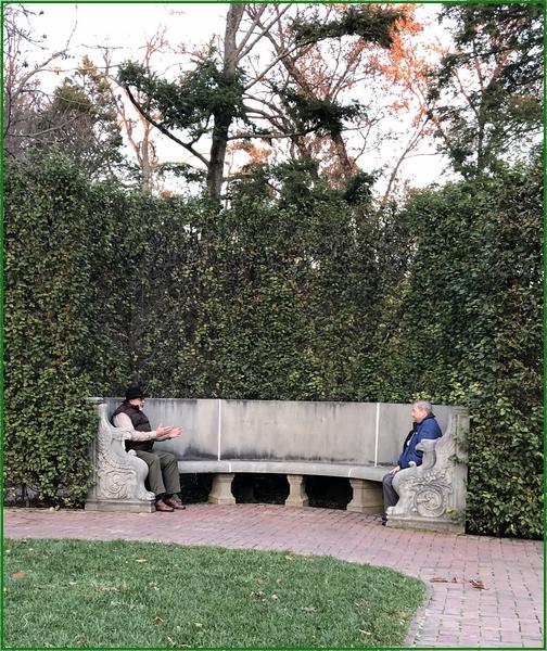 Longwood Gardens whisper bench 11/11/18
