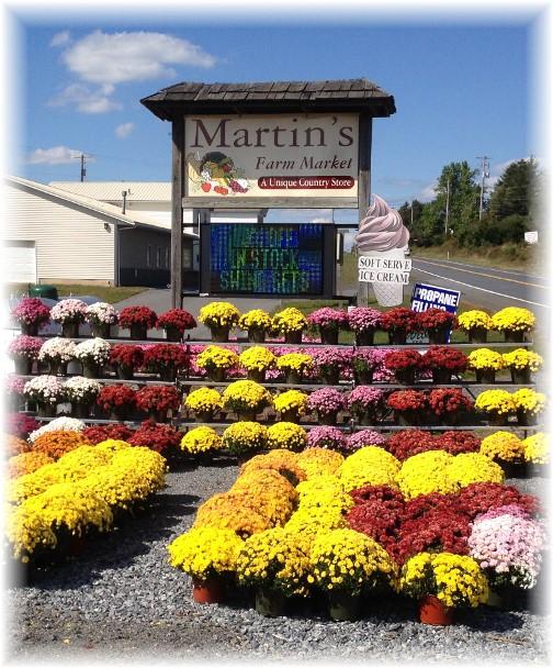 Martin Farm Market in Schuylkill County PA 9/18/14