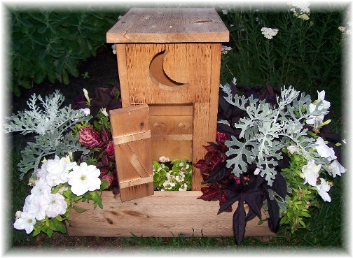 Outhouse planter