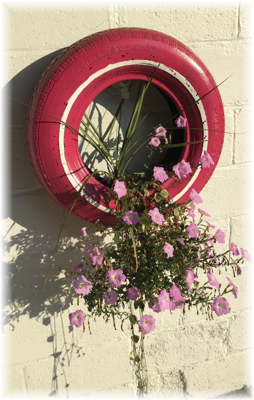 Daily encouragement archive edition - Painted tires for flowers ...