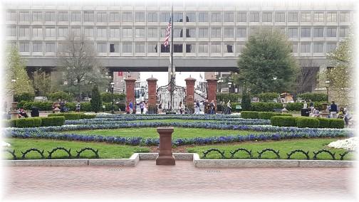 Flower garden view from Smithsonian Castle 3/25/16