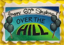 """60th birthday cake """"Over The Hill"""""""