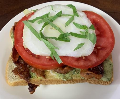 Bacon/tomato/onion sandwich 7/13/19