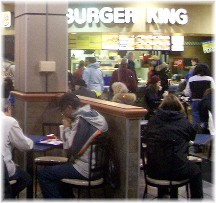 Burger King interior