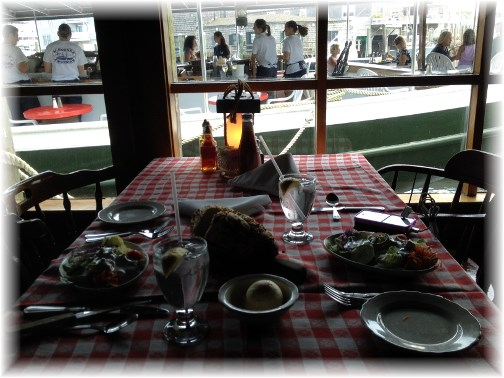 Cape May seafood dinner 7/15/14