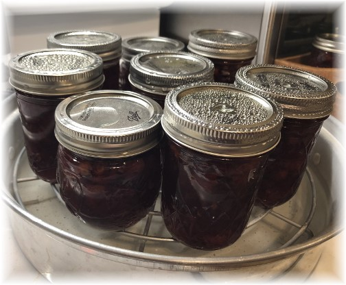 Cherry preserve jars