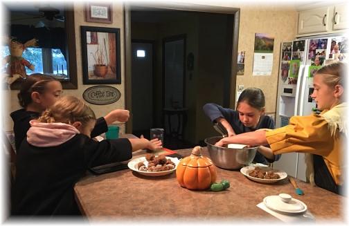 Children baking cookies 10/1/16