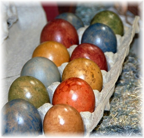 Colored eggs (photo by Doris High)