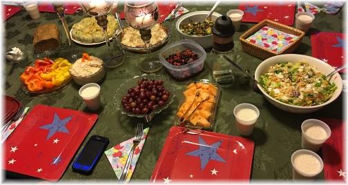 Dinner table 1/26/16