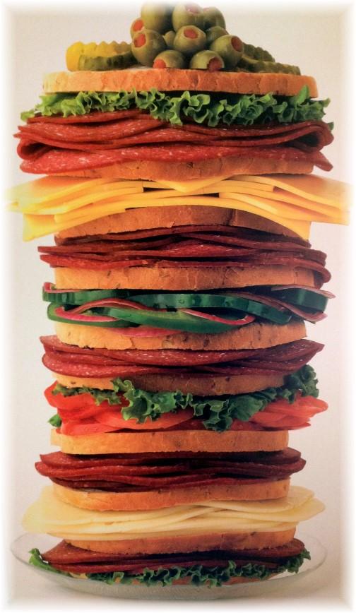 Giant Lebanon bologna sandwich