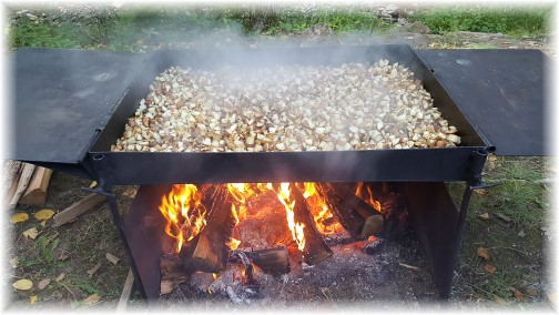 Fried potatoes over open fire 09/11/16