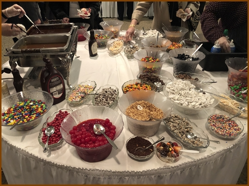 Ice cream toppings at Dick Shellenberger funeral1/26/19