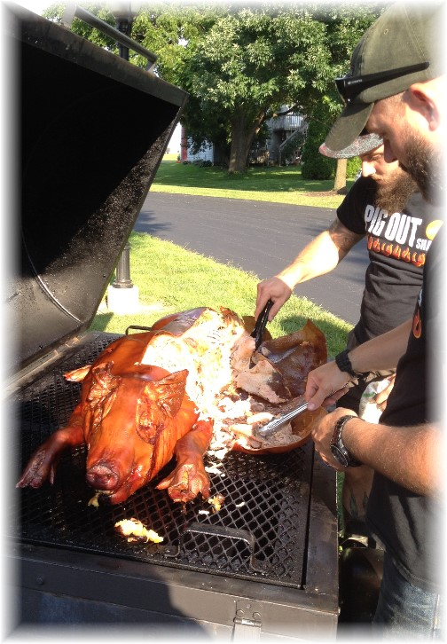 Longwood Manor pig roast 8/14/14