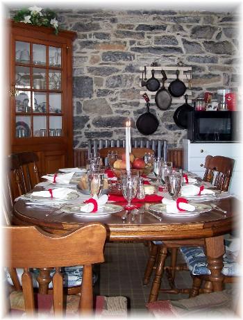 Martin family dinner table 2/21/10