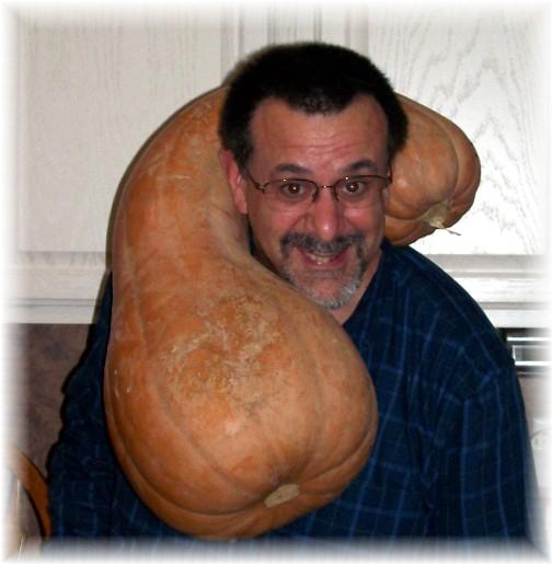 35 pound Neck pumpkin