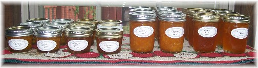 Peach jam and marmalade
