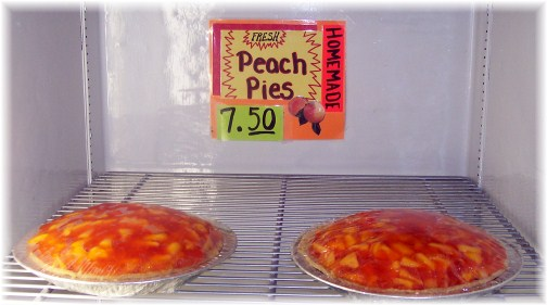 Peach pies for sale