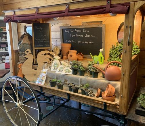 Produce cart at The Carrot Barn near Schoharie, NY 3/15/20