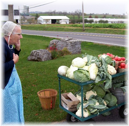 Produce stand in Lancaster County PA