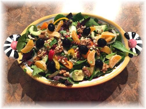 Salad in fancy bowl 2/17/16