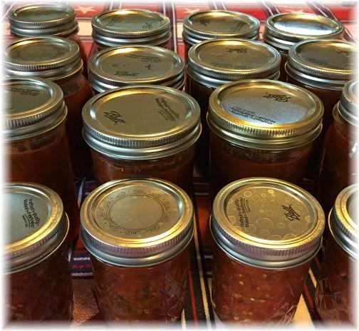 Homemade canned salsa 8/29/16