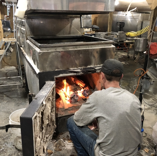 Stone House syrup production, New York state 3/23/19