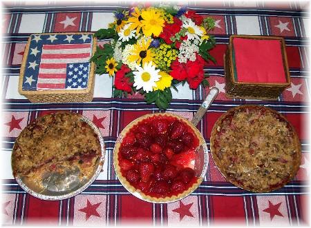 Strawberry/rhubarb pies