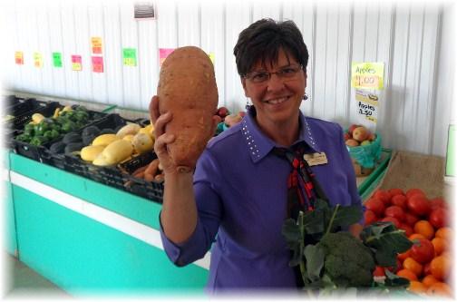 Brooksyne with giant sweet potato