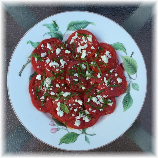 Tomatoes with Basil and Feta