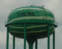 Watermelon water tower, Luling, Texas