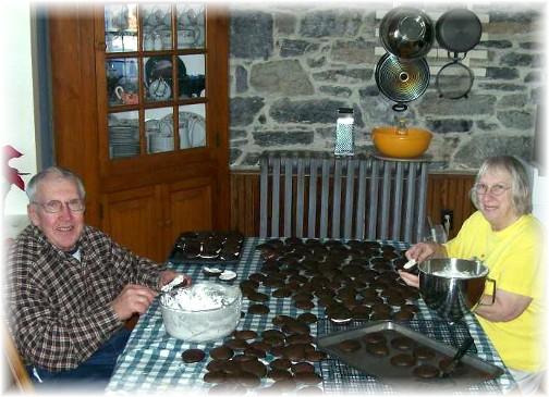 Luke and Anna Mae making whoopie pies 1/13/11