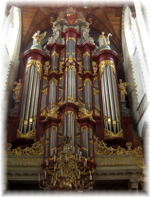 Pipe organ in Grand Church in Haarlem, Netherlands (photo by Dresselhaus)