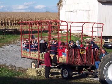 Photo of hay wagon